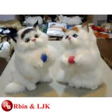 OEM suave ICTI juguete de peluche de fábrica hecho a mano juguete de felpa de gato realista