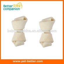 toy dog bones ,Dog Food,Natural Rawhide white puffy knotted Bones ,Rawhide Dog Chew wholesale food companies