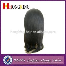 Peruca de cabelo humano em linha reta de 14 polegadas yaki peruca dianteira do laço