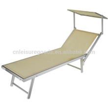 Chaise de plage réglable pliable en aluminium