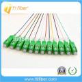 SC / APC 12 fibres Cores Colorful Fibre optique Pigtail