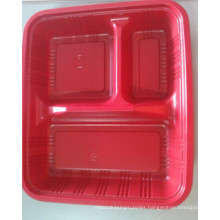 Three Hole Red Plastic Plate (HL-157)