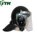 Casque de police anti-émeute de contrôle de visière transparent adapté aux besoins du client de casque anti-émeute de police avec le matériel d'ABS ou de PC