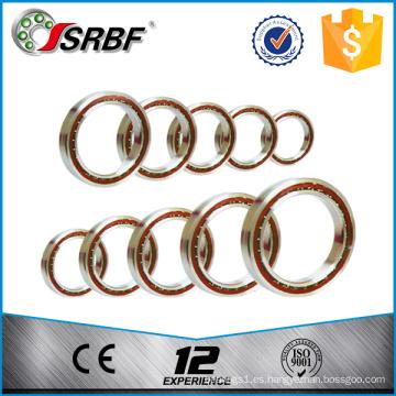 Una fila 7024 rodamiento de bolas de contacto angular en China fabricante