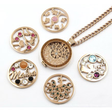 Nickel Free Fashion Locket Necklace with Interchangeable Disc.