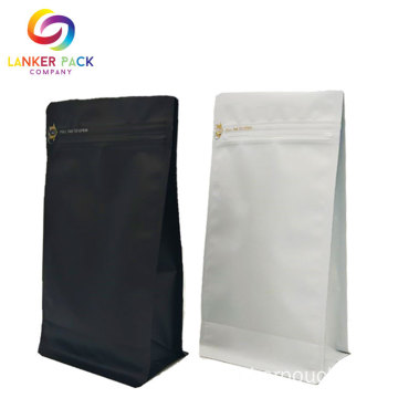 Aluminium Flat Bottom Coffee Bag Dengan Ritsleting Depan