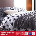 133*72 Printed Black White Bed Linen for Hotel/Home Use