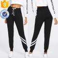 Drawstring Taille Rayé Garniture Pantalons de Survêtement Fabrication En Gros Vêtements Pour Femmes (TA3082P)
