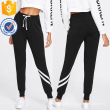 Cordón Cintura Pantalones de Chándal de Rayas Fabricación Al Por Mayor de Ropa de Mujer de Moda (TA3082P)