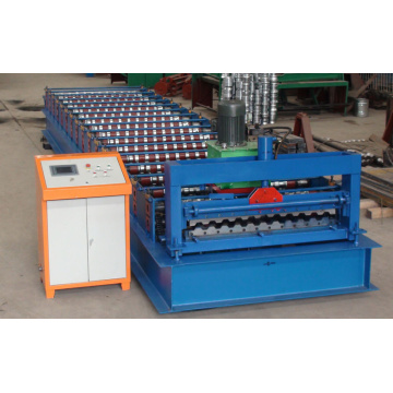 PLC control steel roof tile making machine