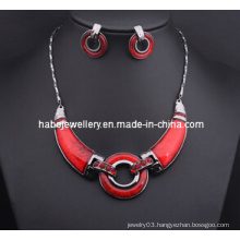 Big Red Ring Necklace Set/Fashion Jewelry Set (XJW13208)