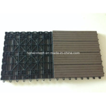 Quintal Decoração DIY Decking 300 * 300mm / WPC Bloqueio Decking Tiles