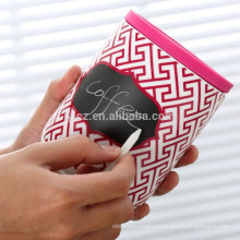 bidones de cerámica al por mayor con tapa de silicona