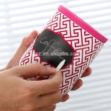 boîtes en céramique en gros avec couvercle en silicone