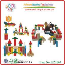 CE Toys Bloque d'immeubles géants Blocs éducatifs en bois