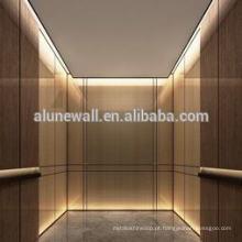 Painel composto de aço inoxidável da gaiola do elevador