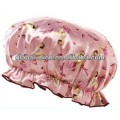 promotional shower cap pink color
