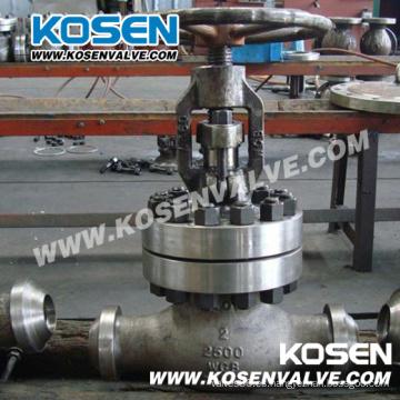 Manual de acero fundido Bw termina las válvulas de globo (2500LB)