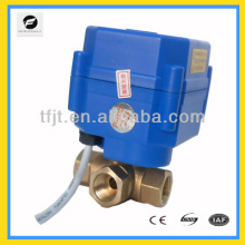 electric 3-way L-flow DC12V DN8 CR01 operated valve with Position indictor