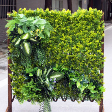 artificial vertical garden green wall with uv protection