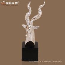 отличное качество полистоуна декор голова антилопы для домашнего украшения