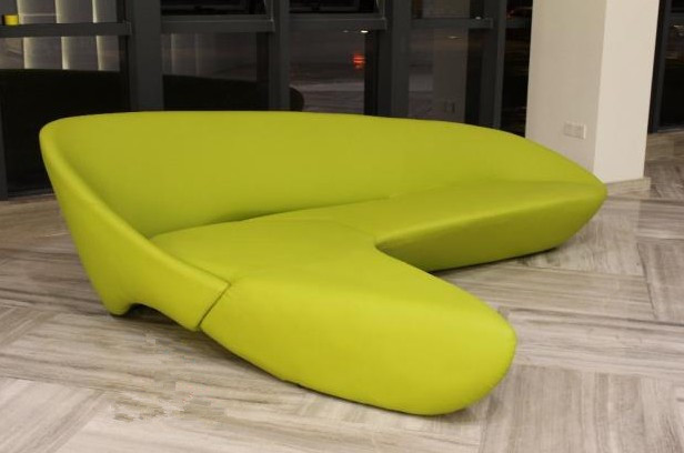 Fibreglass moon sofa