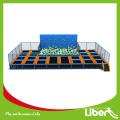 2015 Top Sale Jeux de sport Trampoline intérieur avec mousse, taille personnalisée Trampoline intérieur avec escalade Foam PIt