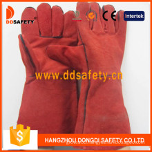 Red Cow Split Welding Gloves (DLW619)