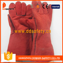 Red Cow Split Welding Gloves Dlw619