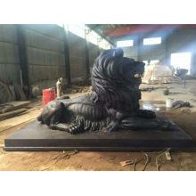 Большая бронзовая статуя Льва вла-095R