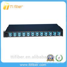 Panel de conexiones de fibra de 24 puertos 1U precargado con conectores LC de un solo modo dúplex