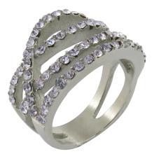 Одиночный камень Кольцо конструкций палец кольцо