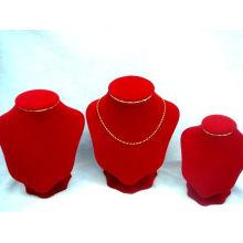 China Fábrica Atacado Tecido Vermelho Jóias Colar de Exibição (NS-WRV-ABC)