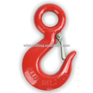 Red coated eye hook
