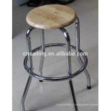Промотирование Хромированный Поворотный деревянный барный стул