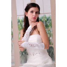 Astergarden foto real blanco guantes de novia de la boda ASJ004