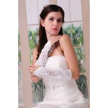 Astergarden реальные фото белые Свадебные перчатки для новобрачных ASJ004