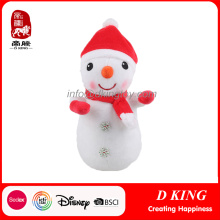 Custom Christmas Ornaments Snowman Soft Toys en cadeau
