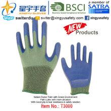 (Produtos de Patente) Revestimento de látex Revestimento Verde Luvas T3000