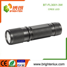 Factory Supply Logo Printing Aluminum Material 3*AAA Battery Operated Pocket Size Bright CREE XPE R3 3w led Best Torch
