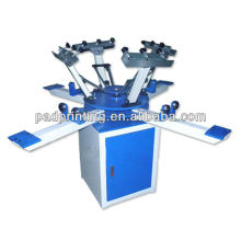 HS-1124 Manual 4 color carousel t-shirt printing machine