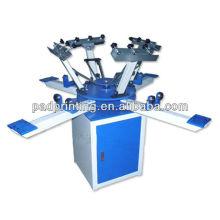 Máquina de impressão do t-shirt do carrossel da cor do manual 4 HS-1124