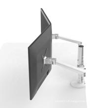Wholesale Desktop Aluminum Alloy Extendable Arm Bracket For Dual Lcd Led Monitors