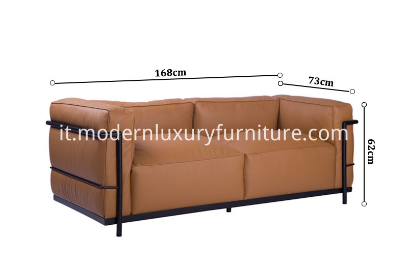LC3 Grand Modele Two-Seat Sofa