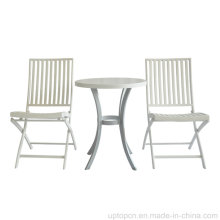Patio Bistro White Aluminum Folding Outdoor Cafe Furniture (SP-AT379)