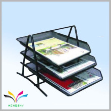 High Quality colorful A4 size metal 3 tier document tray