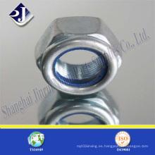 DIN985 tuerca hexagonal con inserción de nylon