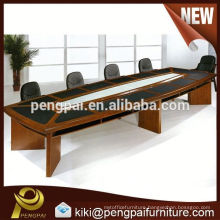 4.8m big size MDF/veneer/paper/ meeting table with pu