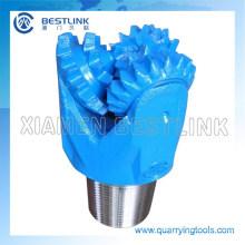 Cone de trituração de aço do dente do rolamento de rolo bocado para a água que flui