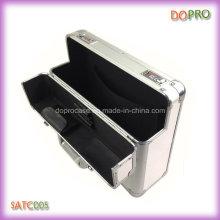 Boîte à outils en aluminium faite sur commande matérielle de valise d'argent d'argent (SATC005)